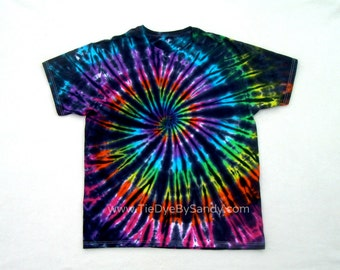 Tie Dye Shirt- Inverted Rainbow Spiral
