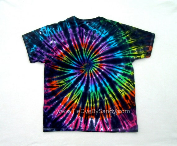 Tie dye shirt inverted rainbow spiral for Tie dye t shirt patterns