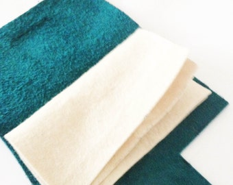 Teal Bue Leather Sewing Needle Case - Sewing Kit Gift