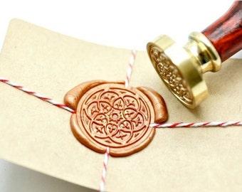 B20 Wax Seal Stamp Damask Kaleidoscope