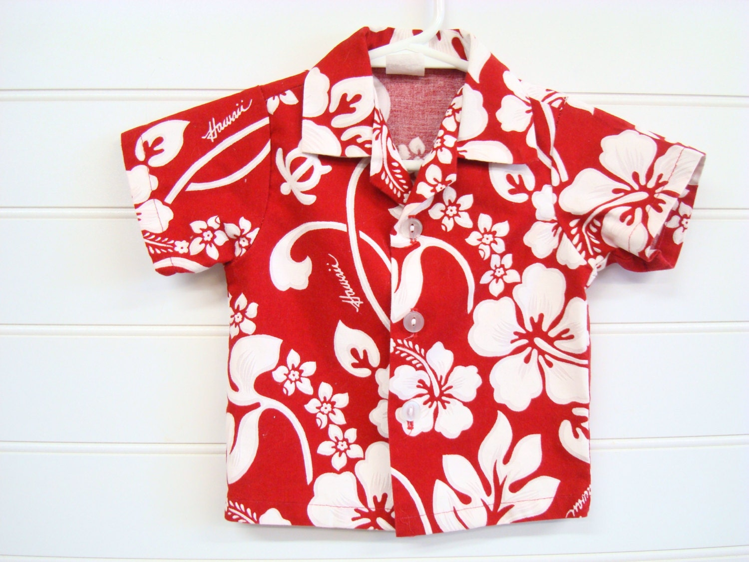Vintage Baby Boy Hawaiian Shirt Traditional Hawaiian Pattern