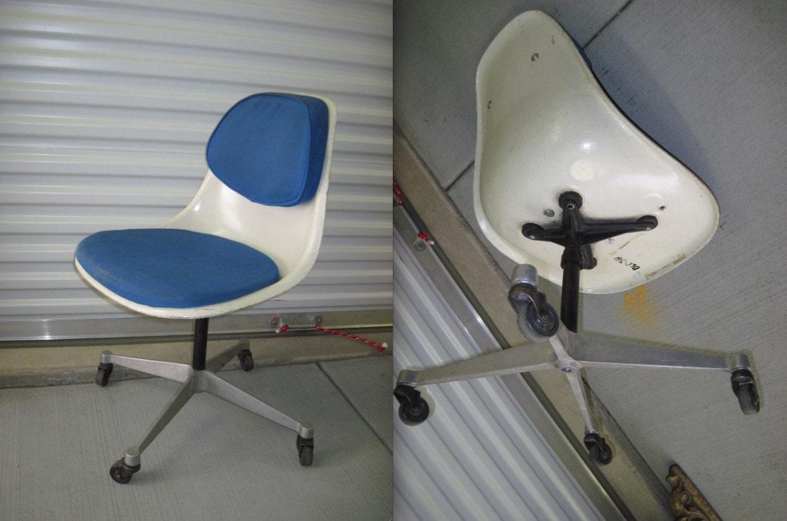 eames pscc4 blue alexander girard fabric herman miller chair. Black Bedroom Furniture Sets. Home Design Ideas