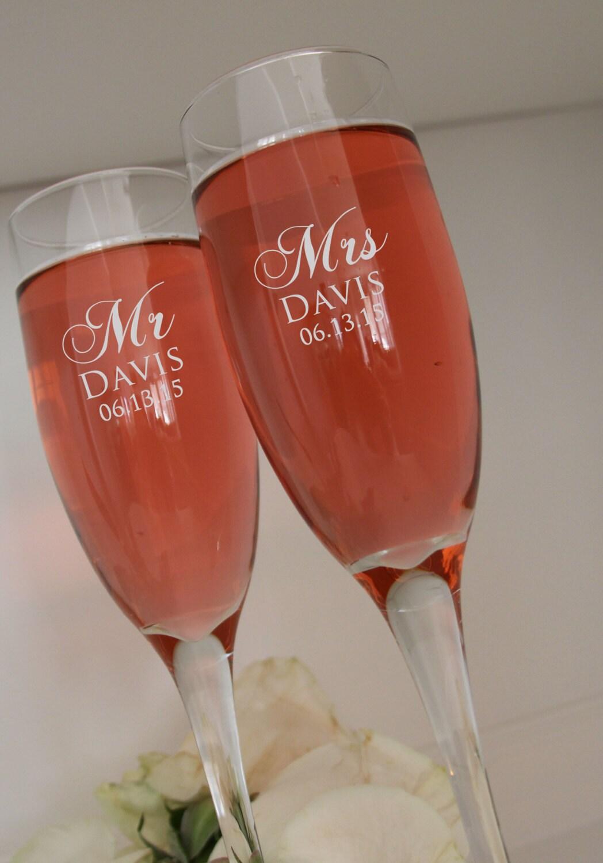 personalized champagne glasses wedding toasting glasses. Black Bedroom Furniture Sets. Home Design Ideas