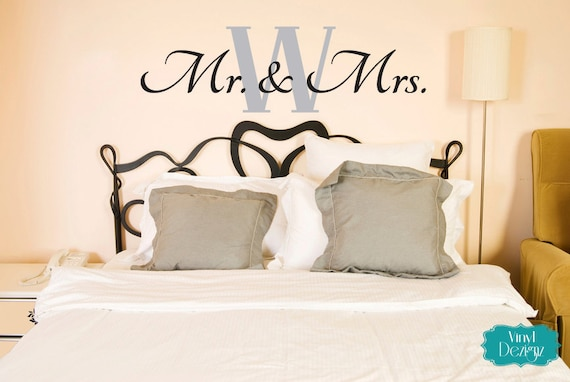 wall decals for master bedroom mr amp mrs wall decal master bedroom vinyl decal vinyl 20083