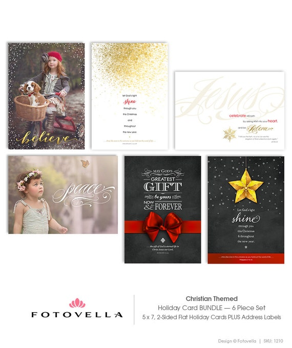 Christian Bible Verse Christmas Card Templates - Photoshop Templates ...