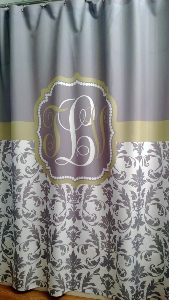 Shower Curtain Damask YOU CHOOSE COLORS 70 74 78 84 88 or