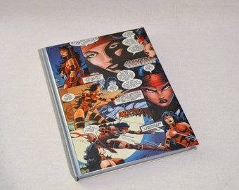 Hardback Elektra Upcycled Comic Book Journal