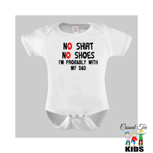 Funny Gender Neutral Baby Clothes No Shirt No by CasualTeeKids
