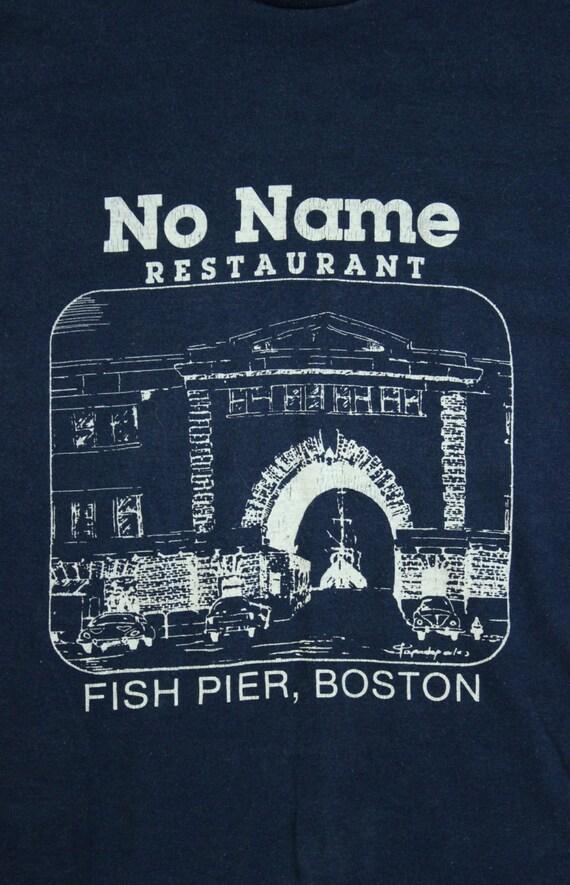 Fish pier boston massachusetts 1980 39 s t shirt by for Fish restaurant boston