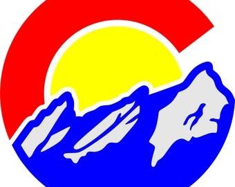Colorado Flatirons Sticker (2 pack)
