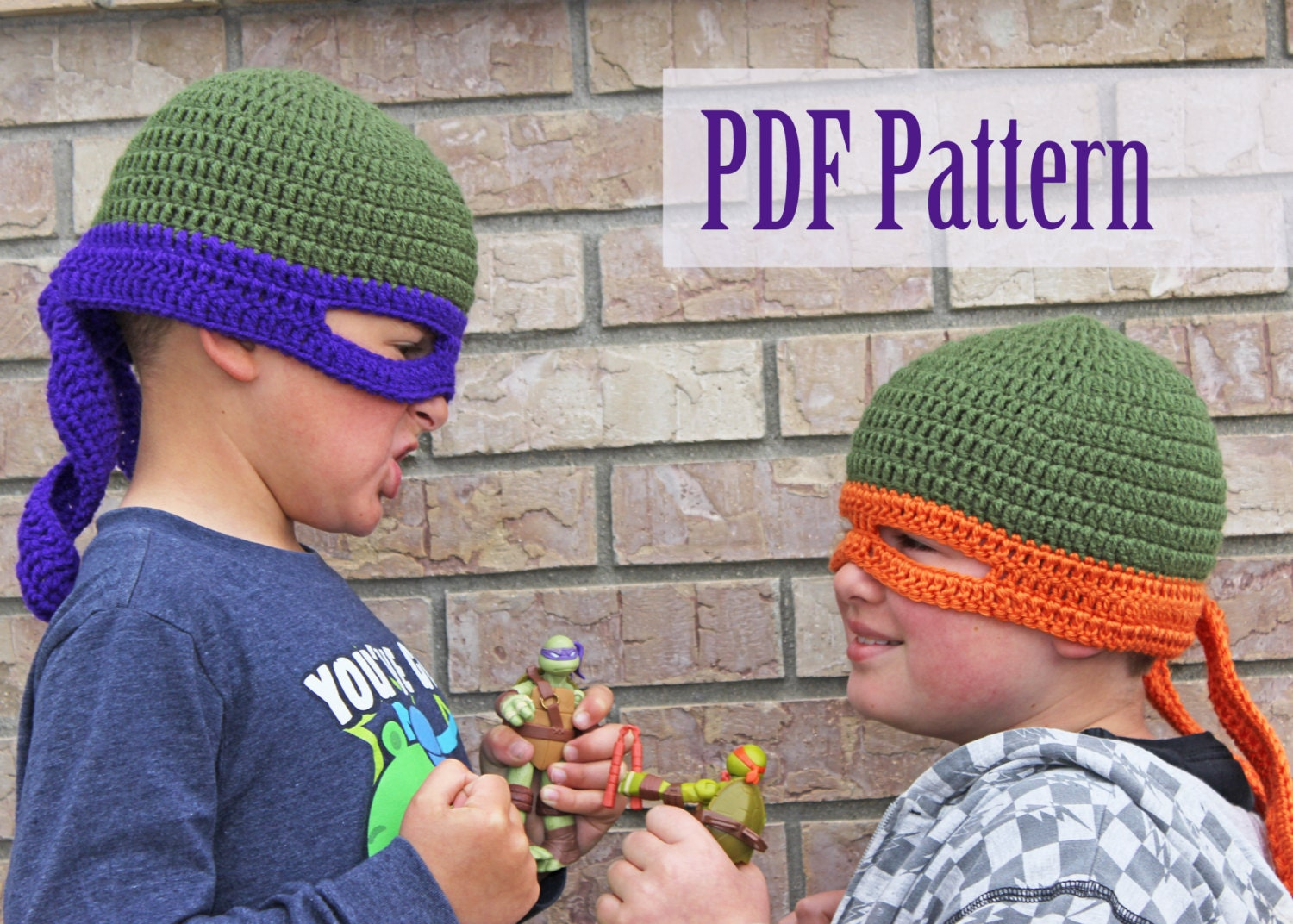 Crochet Pattern For A Turtle Hat : Crochet Pattern TMNT Inspired Hat