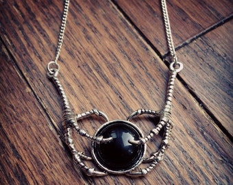 Claw Black Onyx Necklace - Gothic Necklace