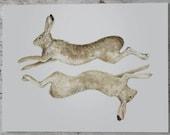 Runny Bunny Archival Print