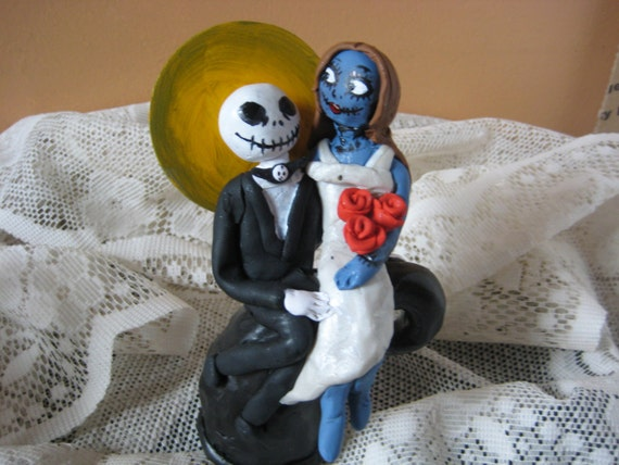 jack skellington and sally wedding cake topper items similar to nightmare before cake topper 16564