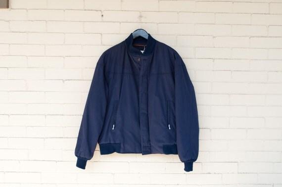 Catalina Varsity Jacket Men S Vintage Navy Blue Quilted