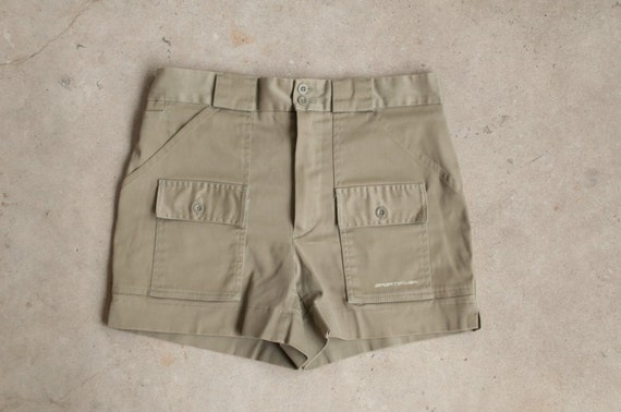 Men's Vintage LL Bean Shorts Sportif Olive Green Safari