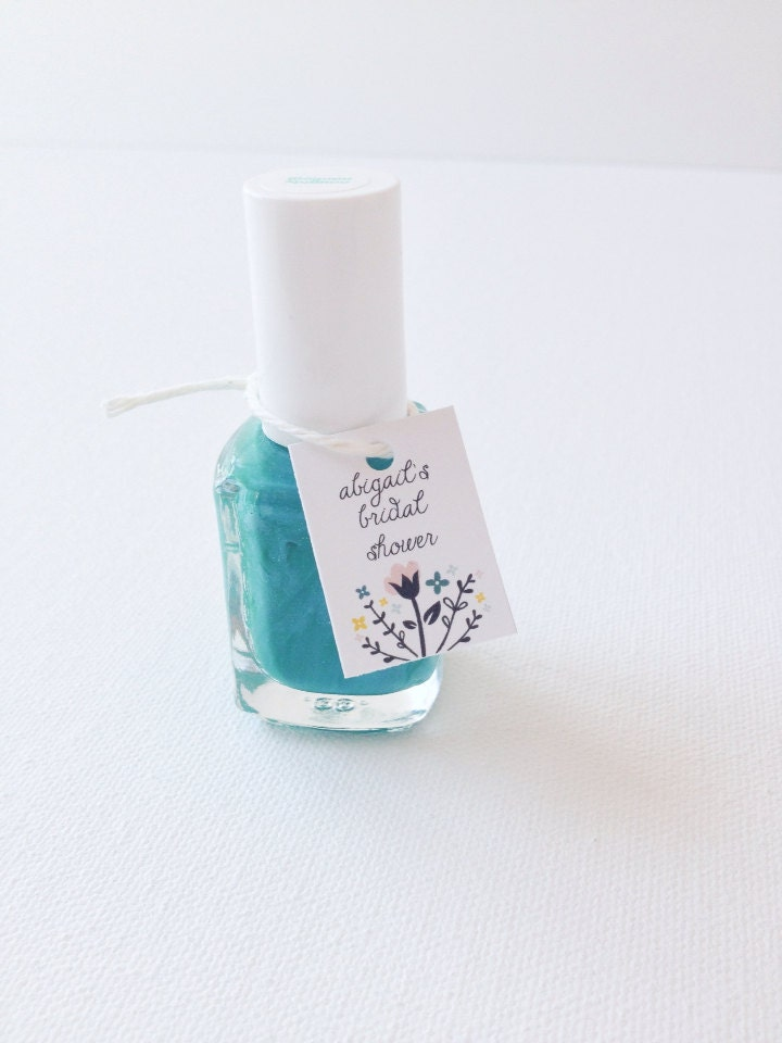 Bridal Shower Tags Nail Polish Favor Tags Wedding Nail Polish By PrintSmitten