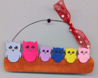 Owl Family Christmas Ornament