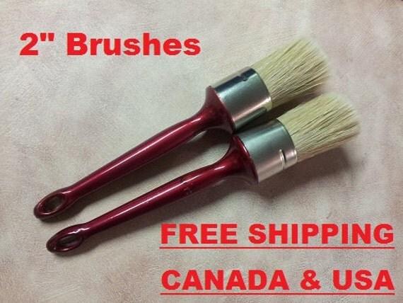 "2"" Large Chalk Paint & Wax Brush Set - Professional Quality! 2 Peice Set!"