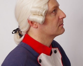 Leopold - men rococo wig, soldier wig, suitable for civil war, war of  independence and seven years war uniforms