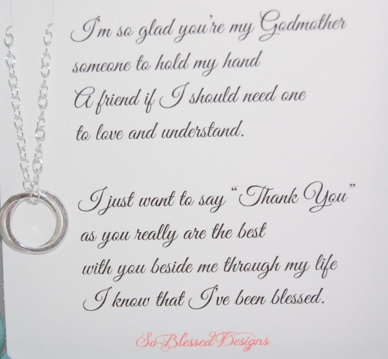 Popular items for godmother necklace on Etsy