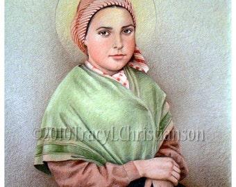 St. Bernadette Soubirous Art Print Catholic Patron Saint of Illness #4062