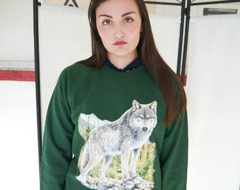 Wildlife Lone Wolf jumper, Wolf sweatshirt, Wolf sweater, Wolves Jumper, Wolves Sweatshirt, Wolves Sweater, Urban Outfitters, New