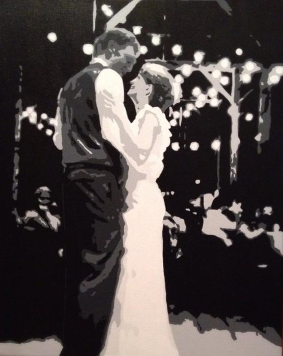 "Wedding Portrait Custom Pop Art Painting 16""x20"" Canvas"