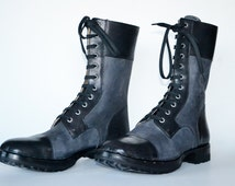 Combat Boots Men - Handmade in curried leather Vegetable tanned_ M DESIGN