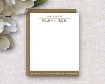 Personalized Stationery. Personalized Stationery for Men. Professional Stationery. Corporate Stationery. Note Cards / Notecards / Stationary