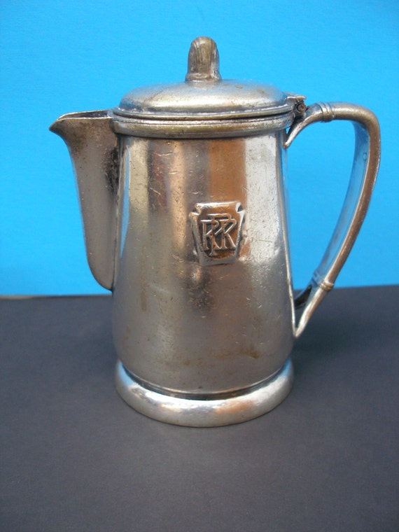 Prr Pennsylvania Railroad Dining Car Silver Teapot By
