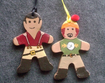 Firefly baked clay gingerbread ornaments