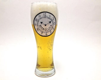 Beer O'Clock Beer Glass