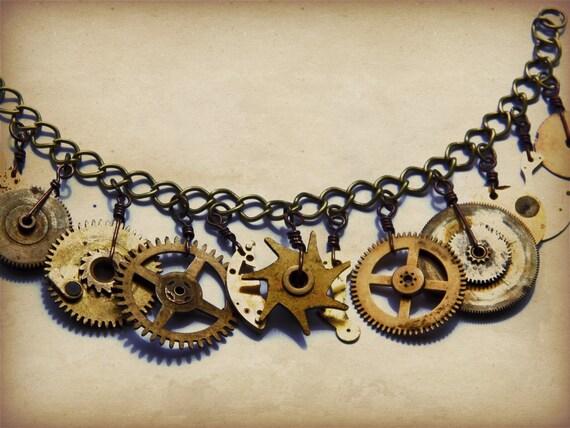 Gear Charm Bracelet