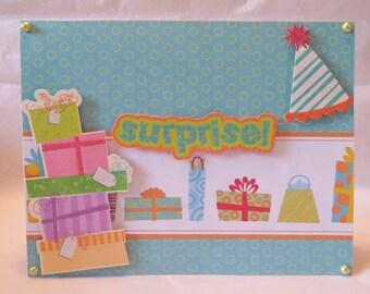Surprise Birthday Presents - Birthday Card
