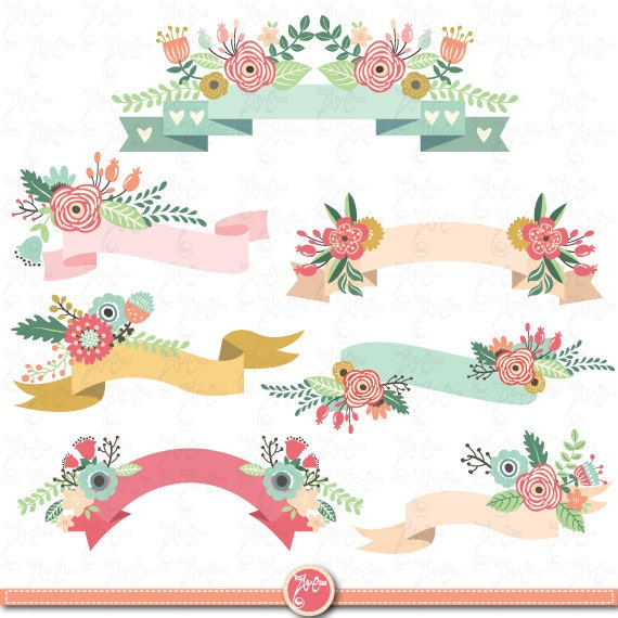clipart floral banner - photo #1
