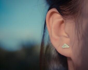 Cloud Sterling Silver Earring Studs