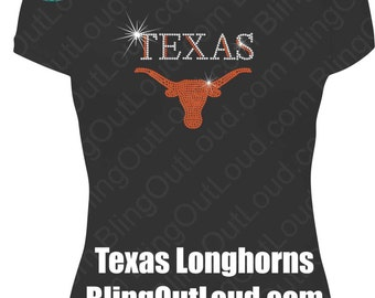 Texas Longhorns Rhinestone Bling Shirt