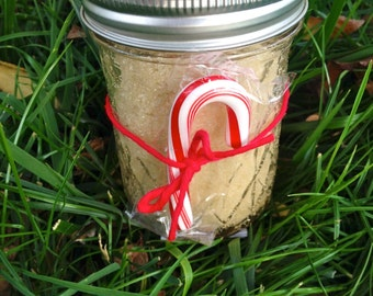 SLATHER PEPPERMINT Ice SCRUB (Natural Exfoliant for Face & Body) - Large