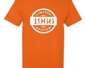 1966 Limited Edition 2016 Birthday T-Shirt 50th Birthday Gift 50 Years Old Mens Womens Ladies Shirt Tee Unisex Modern Custom B-389