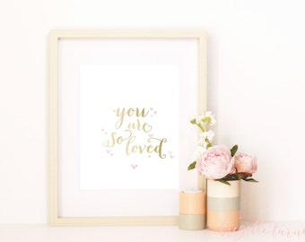 Bible Verse Wall Art Print | Children | Room | Nursery | You are so loved