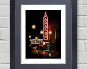 Chicago art - Aragon Ballroom - Painting of a piece of Chicago history