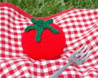 Crochet Toy Tomato for Children