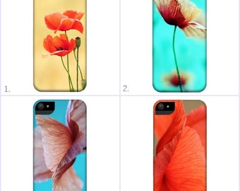 Poppy - Smartphone Case - for iPhone iPod  Samsung Blackberry HTC - Flowers Nature Photography Fine Art Vintage Pink Red Floral