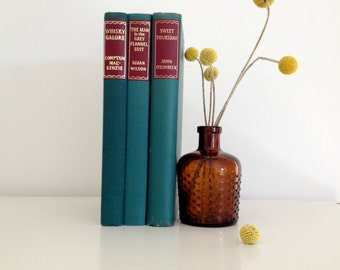 vintage hardcover teal book collection