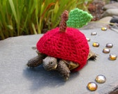 Red apple tortoise cozy - made to order
