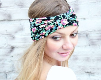 Floral  Print Turbans  Headband great accessory for your outfit
