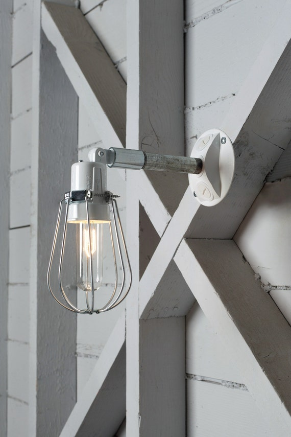 Wall Sconce Cage Lighting : Outdoor Wall Light Exterior Wire Cage Wall Sconce Lamp