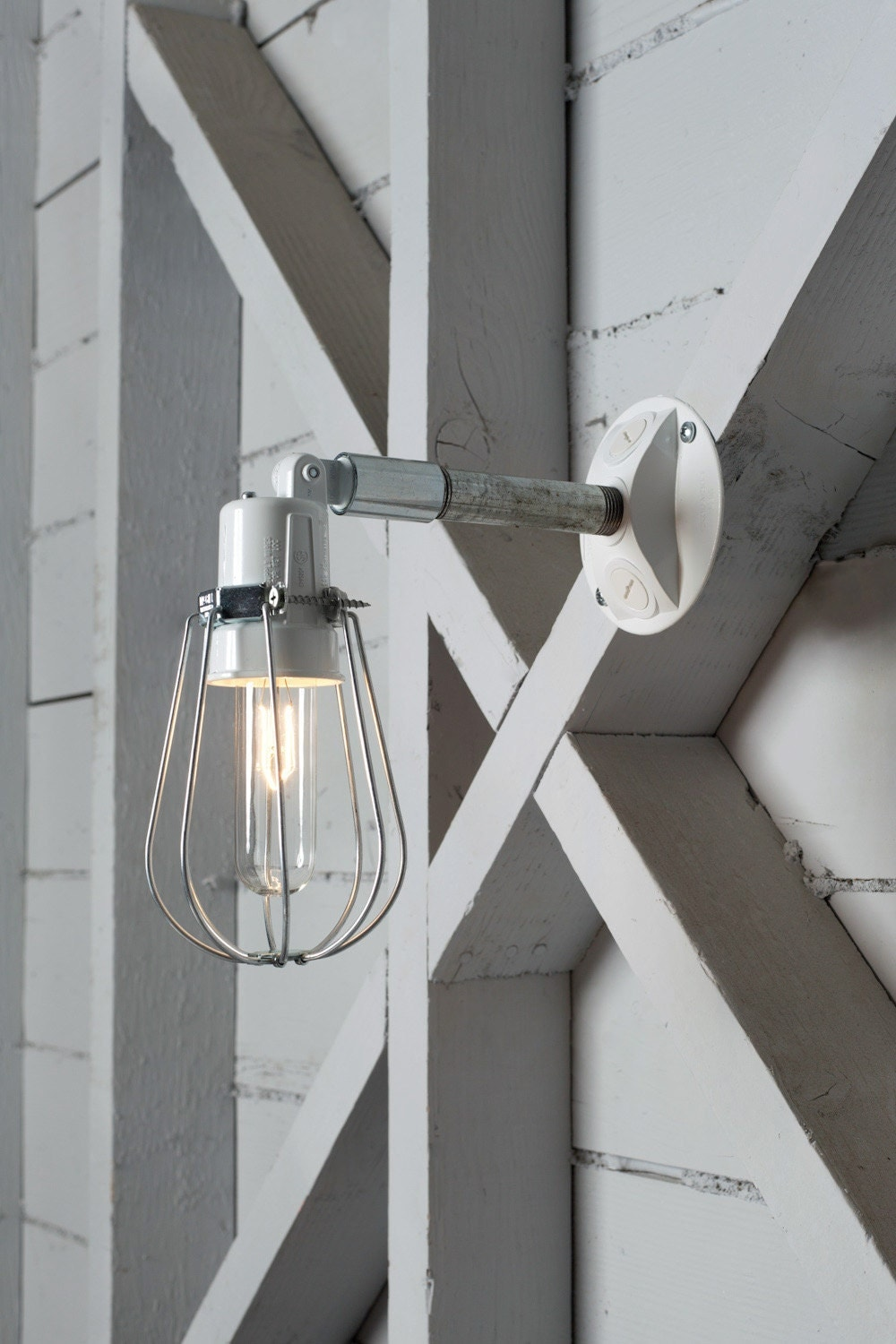 Clipsal Exterior Wall Lights : Outdoor Wall Light Exterior Wire Cage Wall Sconce Lamp