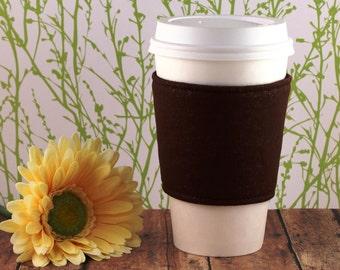 CLEARANCE / Brown Sparkles Coffee Cozy / Brown Coffee Cozy / Coffee Cozy  / Tea Cozy